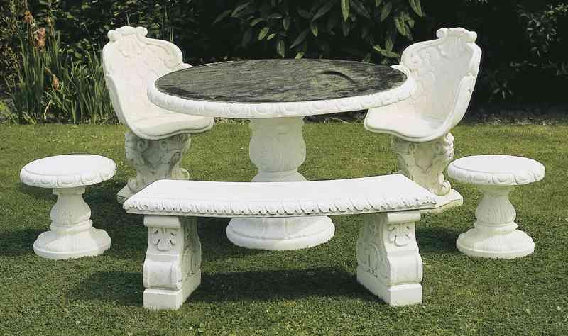 Ronde Tafel 130 : Meubilair ronde tafel met granietblad